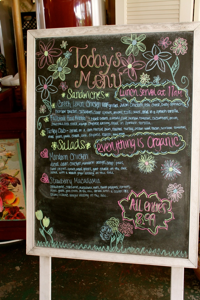 Cafe Bloom Menu