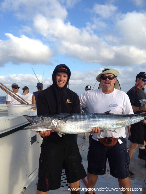 My very happy yahoo with a wahoo on the right.